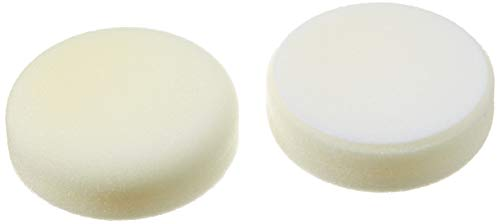 ALCLEAR 558030H Schleifpad, Auto Polierschwämme, hart, Durchmesser: 80x25 mm, weiß, 2er Set, Polierpad polieren Pad Schwamm Polierschaum f. Poliermaschine