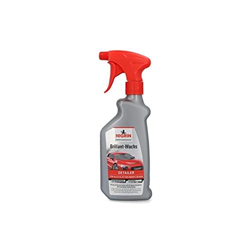 NIGRIN Performance Brillant-Wachs TURBO Auto Wachs, 500 ml Sprüh-Flasche, intensiviert Farben, bringt brillanten Hochglanz