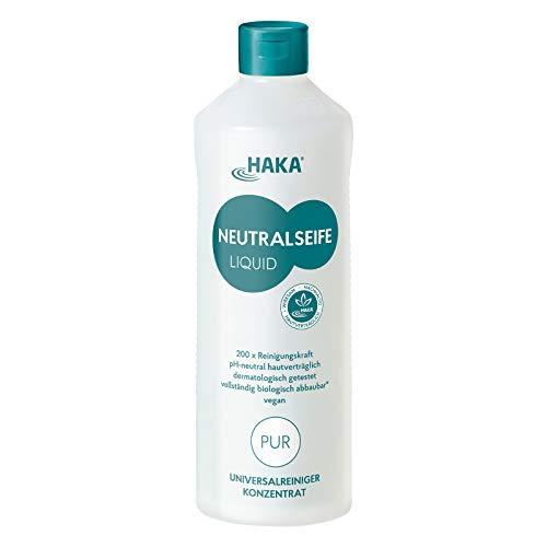 HAKA Neutralseife Flüssig Pur I 1 Liter Neutralreiniger I Universalreiniger für Haushalt und Auto I PH-neutrales Reinigungsmittel I Biologisch abbaubar