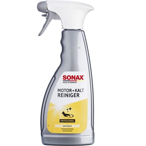 SONAX 05432000-544 Motor+KaltReiniger (500 ml) beseitigt schnell und zuverlässig alle Öl- und Fettverschmutzungen | Art-Nr. 5432000