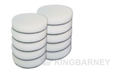 Kingbarney Polierschwamm Set XXL Sparset - 10 x Profi Polierschwämme 180mm Klett Soft für Poliermaschine - kletthaftend - perfekte Autopolitur - Polierset