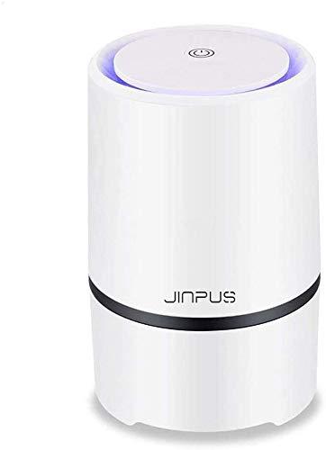 JINPUS Luftreiniger Allergie mit True HEPA Filter, Desktop Luftreiniger Staub Ionisator mit LED, Perfekt gegen Staub und Haustier-Allergene, für Allergiker, Raucher, Asthma…
