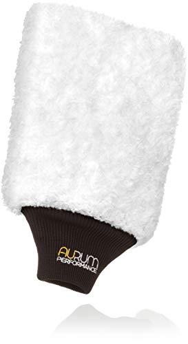 Aurum-Performance® Profi Autowaschhandschuh aus weicher und saugfähiger Microfaser - Auto Waschhandschuh für schonende und effektive Autopflege (1 Stück)
