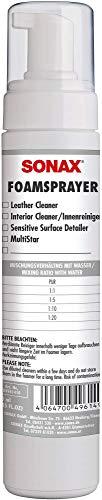SONAX FoamSprayer (250 ml) Schaumsprüher erzeugt einen voluminösen, Lange stehenden Schaum. Verwendbar im Fahrzeuginnenraum   Art-Nr. 04961410
