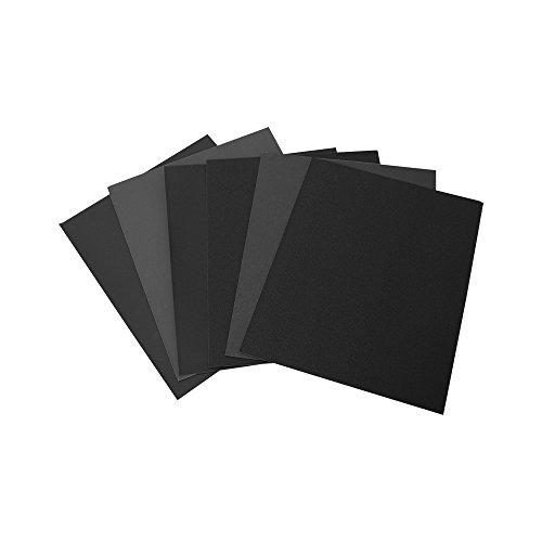 Woltersberger® wasserfestes Schleifpapier 230x280 mm | Körnung P1000, P1200, P1500, P2500, P5000 | Farbe Blau | für hervorragende Schleifergebnisse im Trocken- oder Nassschliff | 5er Set Finisch