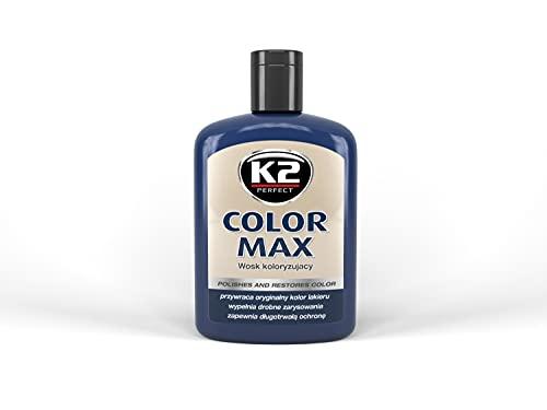 K2 Farbwachs dunkelblau, Wachspolitur Carnauba zum Ausbessern, Lackpolitur 200ml
