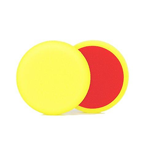 ALCLEAR 558030M_2 558030M Schleifpad, Auto Polierschwämme, medium, Durchmesser : 80x25 mm, gelb, 2er Set, Polierpad polieren Pad Schwamm Polierschaum f. Poliermaschine