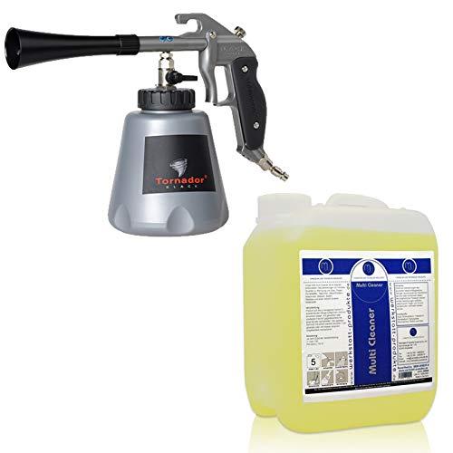 Tornador® BLACK Z-020RS Impuls-Reinigungspistole (Modell 2019) - inklusive 5 Liter MW Multi Cleaner - Profi Set für den täglichen Gebrauch