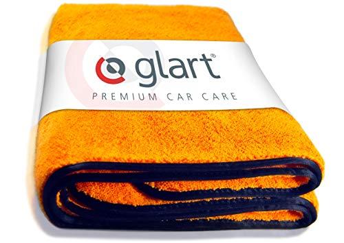 Glart 44WG Watergate super saugfähiges Auto Mikrofasertuch-Trockentuch, 60x90 cm, orange, 1 St. Microfasertuch f. Autopflege, zum Trocknen vor Autopolitur und nach Felgenbürste