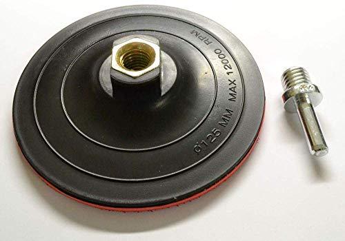 Falon Tech Schleifteller mit Klett M14 125mm 2mm
