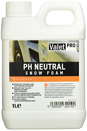 ValetPRO PH Neutral Snow Foam Shampoo 1 Liter