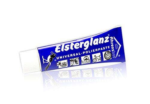 Elsterglanz Universal Reiniger Polierpaste für KFZ, Motorrad, Metall, Tube 40ml