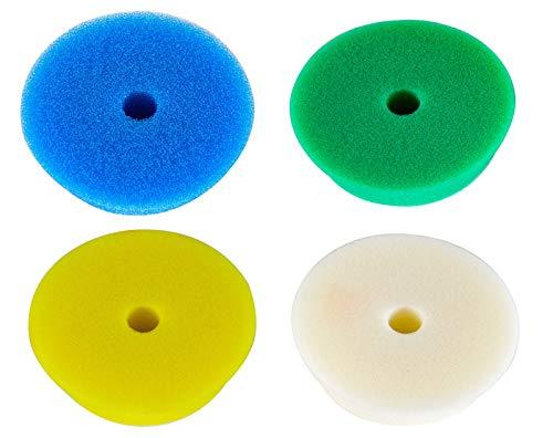 RUPES 4X Polierpad Polierschwamm Polierscheibe weich bis hart 80-100 mm