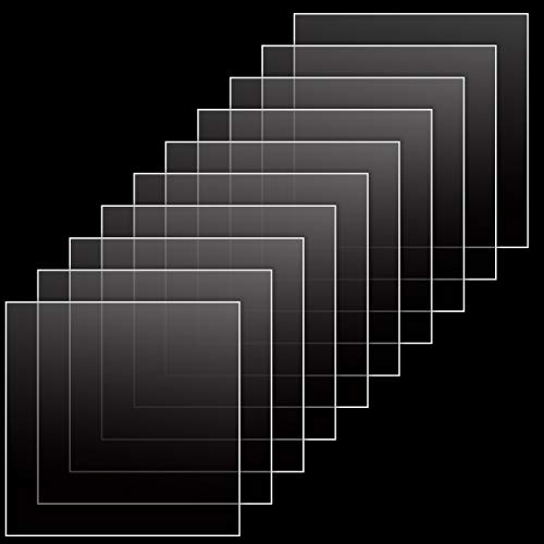 Hileyu 10 Stück Plexiglas-klares Acrylglas,200 x 200 x 2 mm Acrylplatten Acrylglas Ultra klares transparentes Plexiglas,quadratische Acrylplatte f¨¹r das Ersatzglas von Fotorahmen