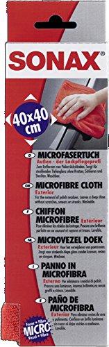 SONAX 04162000 MicrofaserTuch Auen - der Lackpflegeprofi, 40X40 cm