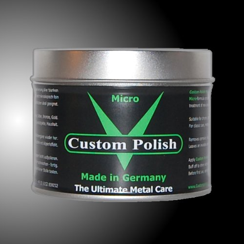 CUSTOM POLISH MICRO 400g Chrompolitur Chrom Alu Edelstahl Politur