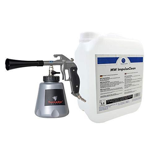 Tornador® BLACK Z-020 RS Druckluft Impuls-Reinigungspistole (Modell 2019) - inklusive 5L MW Impulse Clean Konzentrat - Profi Set für den täglichen Gebrauch