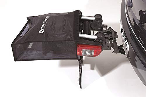 Westfalia BC 60 (Modell 2018) Fahrradträger für die Anhängerkupplung inkl. Tasche - Klappbarer Kupplungsträger für 2 Fahrräder - E-Bike geeigneter Universal-Radträger mit 60 kg Zuladung