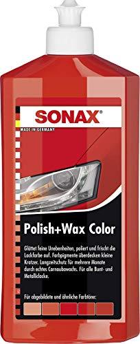 SONAX Polish & Wax Color rot (500 ml) Politur mit Farbpigmenten und Wachsanteilen | Art-Nr. 02964000