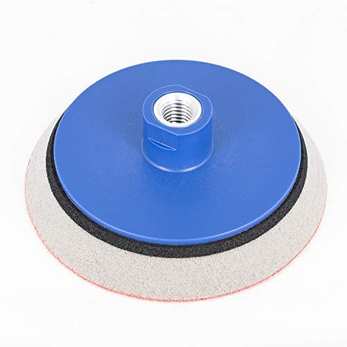 Schleifteller 125 mm KLETT für Winkelschleifer mit M14 | EXTRA WEICH Schaum | Polierteller für Schleifscheiben/Polierschwämme - Stützteller in allen Größen - DFS