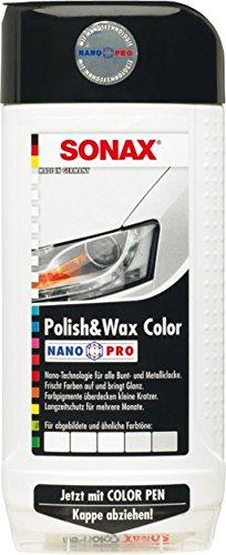SONAX 296000 Polish & Wax Color NanoPro weiß, 500 ml