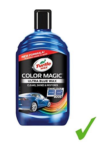 Turtle Wax 500ml Color Magic Ultra Blue Car Wax Auto-Lack-Versiegelung-Wachs Lackschutz Lackreparatur Lackpolitur Farbpolitur Tönungswachs Ultra Blau Tiefglanz