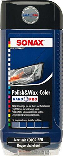SONAX 296200 Polish & Wax Color NanoPro blau, 500ml