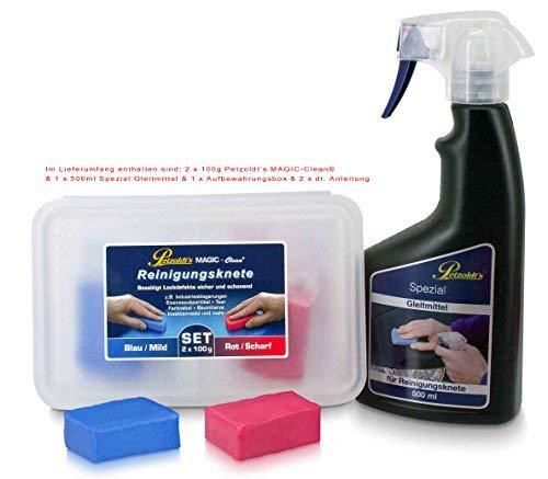 Petzoldt's Reinigungsknete-Gleitmittel 2er Pack, zur perfekten Lackreinigung und Lackpolitur sowie vor Einer Lackkonservierung
