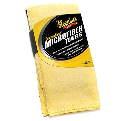 Meguiar's X2020EU Supreme Shine Mikrofasertuch, 3er Pack
