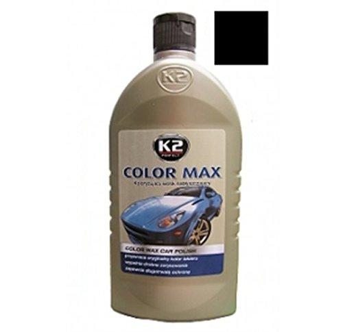 K2 Color Max Farbpolitur Autopolitur Politur mit Carnauba-Wachs Schwarz 500 ml