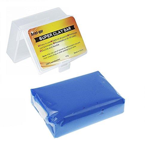 Auto Reinigungsknete, Ariel-gxr Auto Knete zur Lackpflege und Felgenreinigung für für Auto, Motorrad, Wohnwagen etc.160g, Blau