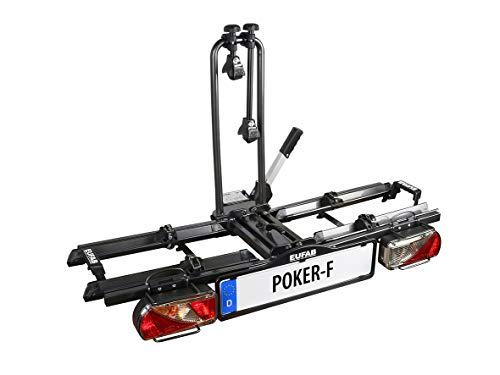 EUFAB 12010LAS Fahrradträger: Kupplungsträger 'Poker-F' (ehemals 'Raven') klappbar, für 2 Räder, für E-Bikes geeignet