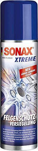 SONAX XTREME FelgenSchutzVersiegelung (250 ml) bildet einen effektiven Schutz gegen Bremsstaub, Schmutz, Salz & Wasser mit Easy-to- Clean-Effekt   Art-Nr. 02501000