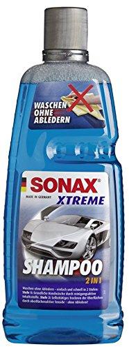SONAX XTREME Shampoo 2 in 1 (1 Liter) Autoshampoo Konzentrat ohne Abledern zur Reinigung lackierter Oberflächen, Metall, Glas, Kunststoff & Gummi | Art-Nr. 02153000