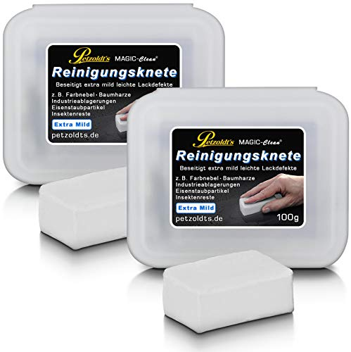 2× Petzoldts weiße Profi-Reinigungsknete Magic-Clean, extra mild bei der Lackreinigung