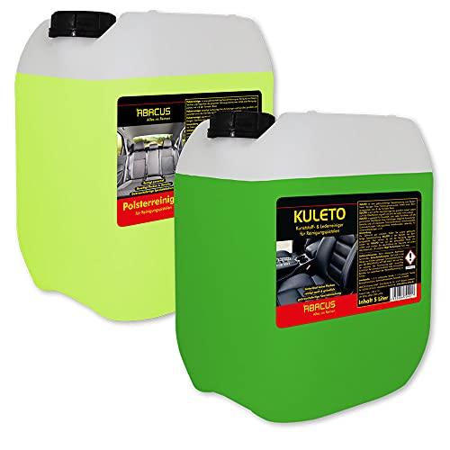 ABACUS Tornador Black Reiniger Nachfüll-Set - 1x 5 Liter KULETO + 1x 5 Liter Polsterreiniger gebrauchsfertige Reiniger für Polster, Textil, Kunststoff & Leder (7428)