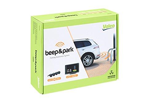 Valeo Beep&Park, Einparkhilfe mit 4 Sensoren und LCD-Display zum Front-ODER Heckeinbau, Artikelnr. 632201, Schwarz