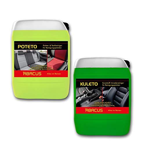 ABACUS Tornador Black Reiniger Nachfüll-Set - 1x 5 Liter KULETO + 1x 5 Liter POTETO - gebrauchsfertige Reiniger für Polster, Textil, Kunststoff & Leder (7428)