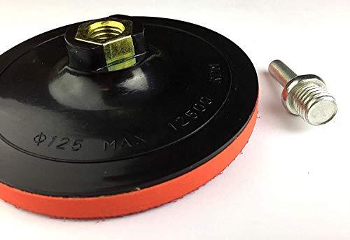 Schleifteller mit Hakenriemen M14 125mm inkl. Spanndorn für Bohrmaschine/Winkelschleifer