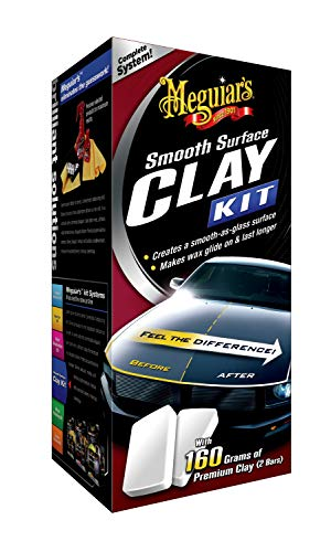 Meguiar's G1016EU Smooth Surface Clay Kit, 473ml+2*80g Lackreinigungsset