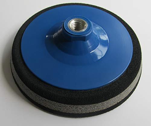 Polierteller Ø 55mm - 200mm Schleifteller Stützteller Klett Winkelschleifer Sandwich (weich) Gewinde M14 für Klett-Schleifscheiben (Durchmesser Ø 180mm)