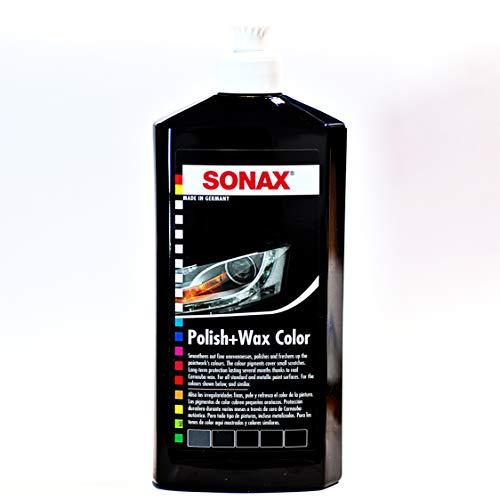 SONAX 296041 Polish & Wax Color schwarz (500 ml) Politur mit Farbpigmenten und Wachsanteilen | Art-Nr. 2961000