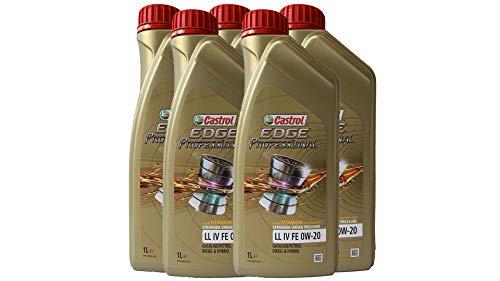 CASTROL EDGE Professional Motoröl ÖL TITANIUM FST LL IV FE 0W20 für VW - 5 Liter