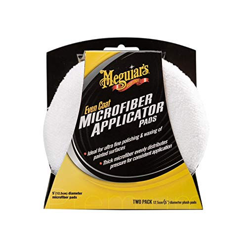 Meguiar's X3080EU Even Coat Applicator Pad, Mikrofaser-Auftragsschwamm, 2-er Pack
