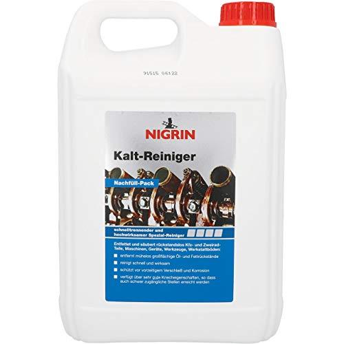 NIGRIN 72290 RepairTec Kaltreiniger, 5 Liter Kanister Nachfüllpack, zur Entfettung von Motor- und Maschinenteilen
