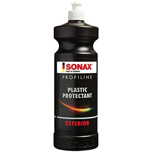 SONAX 210 300 PROFILINE Plastic Protectant Exterior (1 Liter) hochwirksame, silikonfreie Kunststofftiefenpflege für unlackierte Kunststoffteile | Art-Nr. 2103000