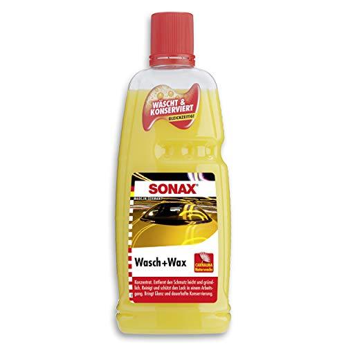 SONAX Wasch & Wax (1 Liter) gründliche Schmutzentfernung und dauerhafter Schutzfilm aus natürlichem Carnauba-Wachs | Art-Nr. 03133410