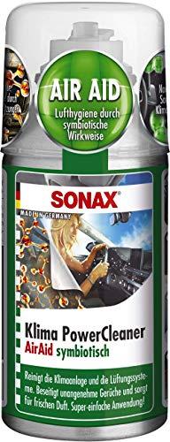 SONAX KlimaPowerCleaner AirAid symbiotisch (100 ml) sorgt schnell und einfach für langanhaltende Lufthygiene und befreit dauerhaft von lästigen Gerüchen | Art-Nr. 03231000