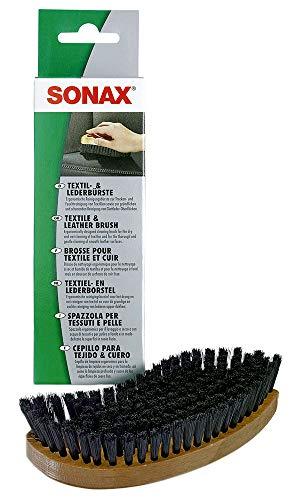 SONAX Textil- & LederBürste (1 Stück) zur Trocken- und Feuchtreinigung von Textilien sowie zur schonenden Reinigung von Glattleder-Oberflächen   Art-Nr. 04167410