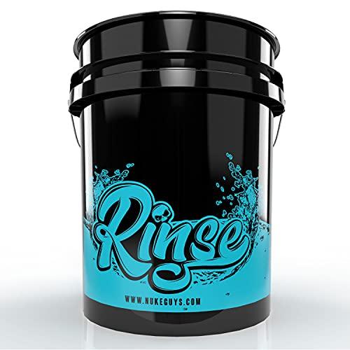 Nuke Guys - Wash Bucket - GritGuard 5 GAL (ca. 20 L) Wascheimer speziell für Zwischenspülen des Waschhandschuhs - 3 Eimer Waschmethode - schonende Fahrzeugpflege - sanfte Handwäsche - schont Lack